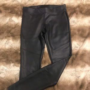 Express pleather leggings wore 1x